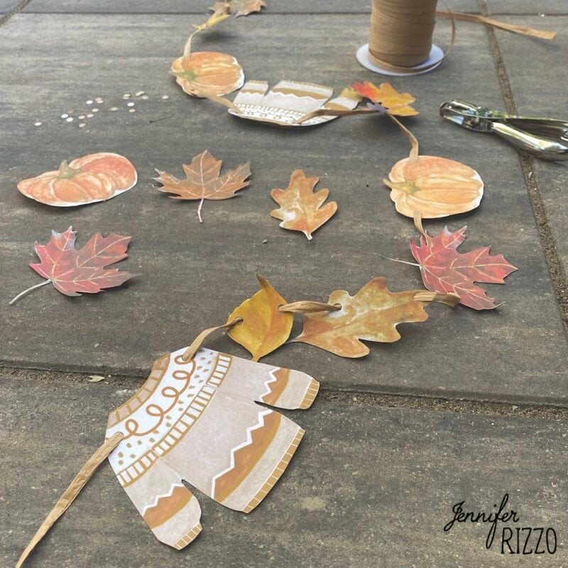 Fall printable sweater banner