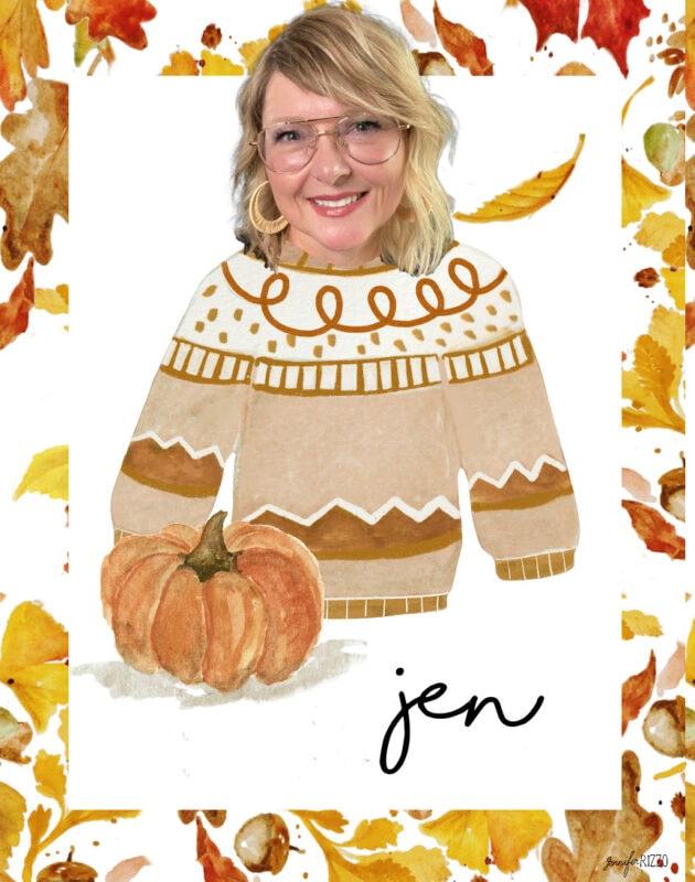 Jennifer Rizzo sweater weather free printable cards