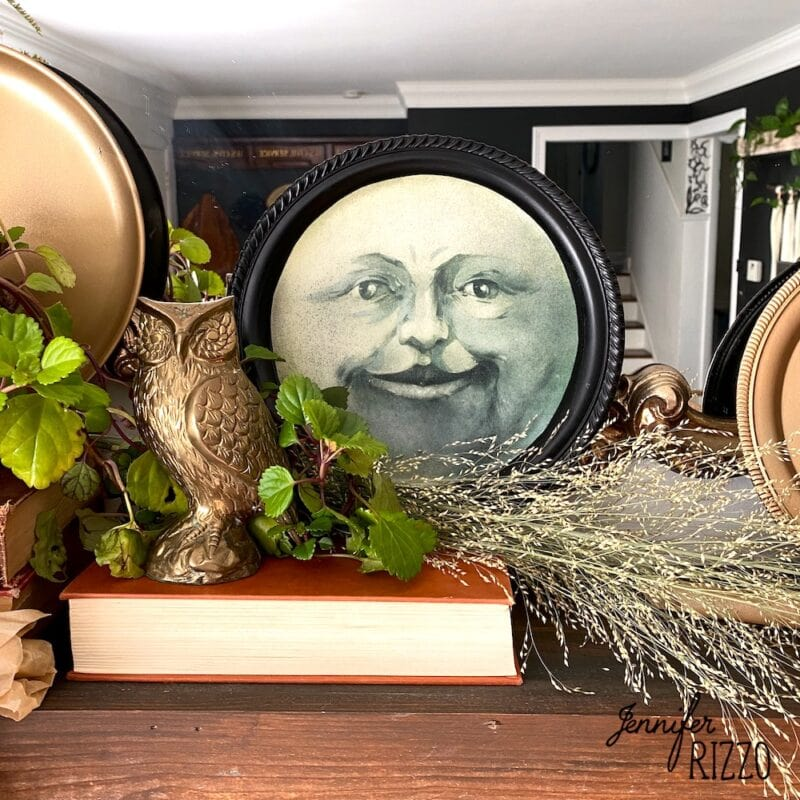 Man in the Moon Face Tray DIY
