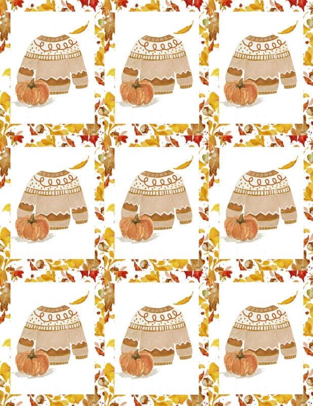 sweater weather is better weather printable cards place cards